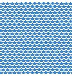 Fish scale blue seamless pattern vector image