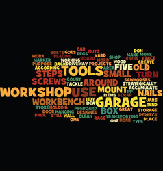 Five steps to a clean garage workshop text vector