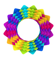 Geometric rainbow flower logo vector
