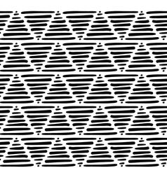 graphic triangle pattern vector image