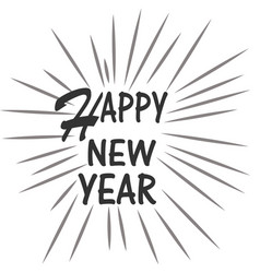 happy new year on white background happy new year vector image vector image