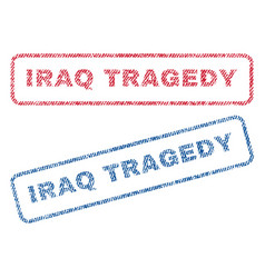 Iraq tragedy textile stamps vector