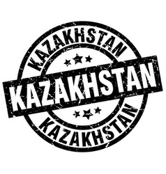 Kazakhstan black round grunge stamp vector
