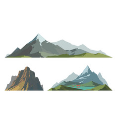 mountain mature silhouette element outdoor icon vector image vector image