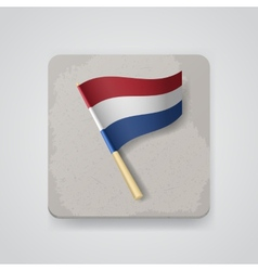 Netherlands flag icon vector image vector image
