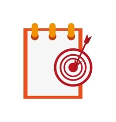 notepad and bullseye icon vector image vector image