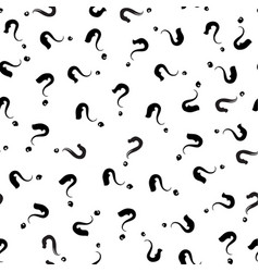 Question sign ornament exclamation mark seamless vector