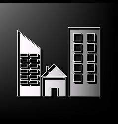 Real estate sign gray 3d printed icon on vector