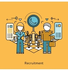 Recruitment Icon Flat Design Concept vector image