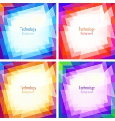 Set of Bright Abstract Colorful Technology Frames vector image vector image