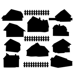 silhouette house vector image