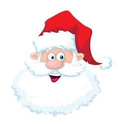 smile santa head vector image vector image