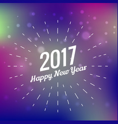 stylish 2017 happy new year design on colorful vector image vector image