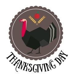 Thanksgiving day round logo vector image