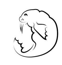 Walrus Symbol vector image