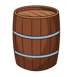 wine barrel icon cartoon style vector image