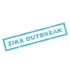 Zika outbreak rubber stamp vector