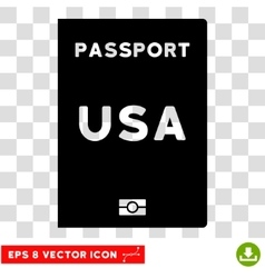 American passport eps icon vector