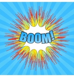 Comic boom wording vector