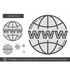 Domain line icon vector