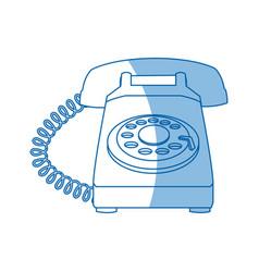 drawing telephone communication device image vector image