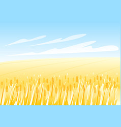 Wheat field landscape vector