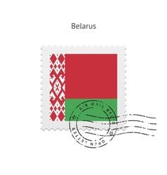 Belarus Flag Postage Stamp vector image