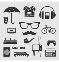 Set for hipster vector