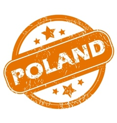 Poland grunge icon vector