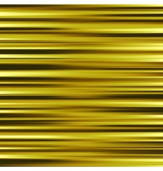 Gold waves background metal plate with reflected vector