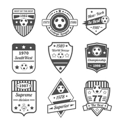 Soccer label set vector