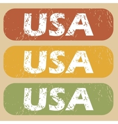 Vintage usa stamp set vector
