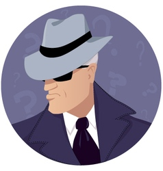 Man of mystery vector