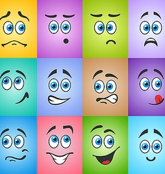 Blue eyed emotion on colored vector