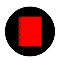 Notebook simple icon vector