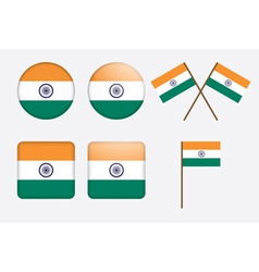 Badges with flag of india vector