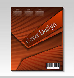 Abstract cover design template vector