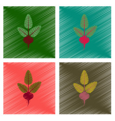 Assembly flat shading style plant beta vector