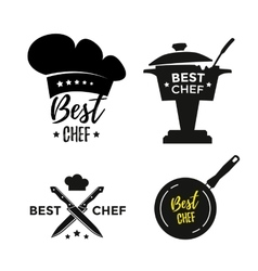 Best chef icons vector image vector image