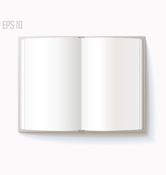 blank open book on white background eps 10 vector image