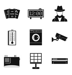 candid camera icons set simple style vector image