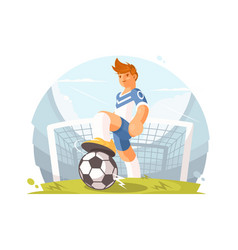cartoon character football player vector image vector image