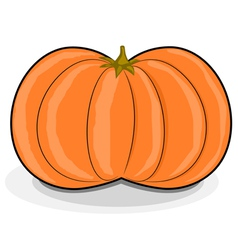 cartoon pumpkin vector image vector image