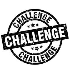 challenge round grunge black stamp vector image