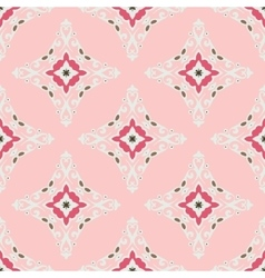 Cute pink Seamless abstract tiled pattern vector image vector image