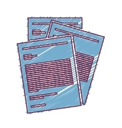 Document paper pages vector