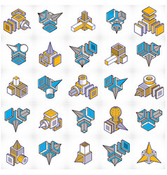 Engineering constructions collection abstract vector