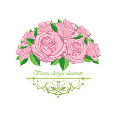 frame with floral patterns vector image vector image