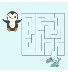 Labyrinth maze find a way kids layout for game vector image