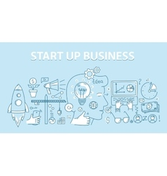Line style design concept of start up business vector image vector image